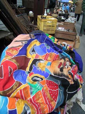 三原神明市での古物露店